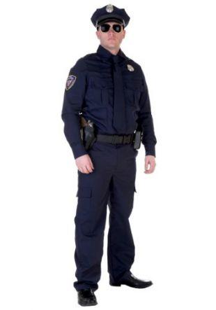 Authentic Cop Costume Standard Blue