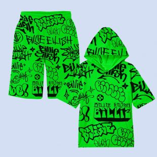 Feak City X Billie Eilish Graffiti Hoodie Set In Black Worn By Undefined On The Instagram Account Billieeilish Spotern