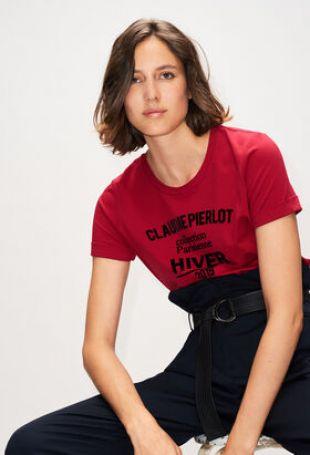T-Shirt Message Effet Velours