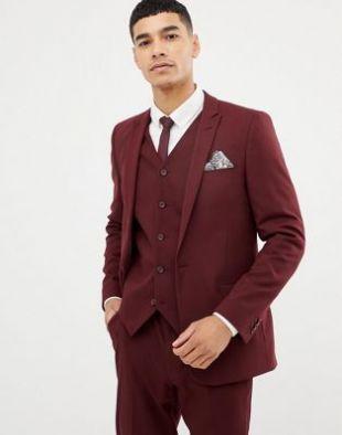 ASOS DESIGN - Veste de costume ajustée - Bordeaux | ASOS