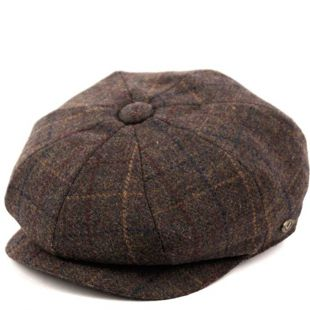 Epoch hats Men's Classic 8 Panel Wool Blend Newsboy Snap Brim Collection Hat