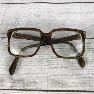 Vintage Extra Large carré lunettes - Peabody Style lunettes - brun - livraison gratuite