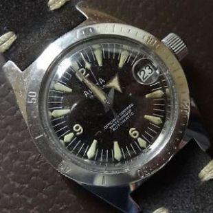 1960'S Alsta diving watch in great condition, tritium markers.  | eBay
