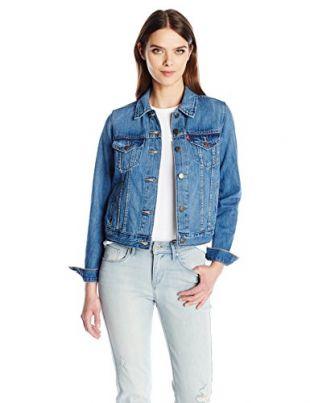Levi's Women's Authentic Trucker Jackets, Camp-Out Blues, Medium