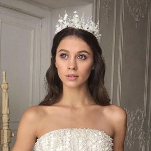 Diadème de mariée, diadème de mariage, mariage perle couronne, diadème, perle et fleur Ivoire tiare, diadème de princesse, fleur tiare, diadème Floral
