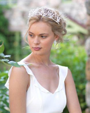 Diadème de mariage floral, couronne de mariée fleur, couronne de fleurs mariage, diadème de mariée fleur, parure de mariage, accessoire de coiffure mariée - TI-7004