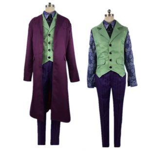 Le chevalier noir hommes Joker Costumes Heath Ledger chemise Costumes Cosplay Costumes violet veste ensembles complets toute taille-in Déguisements TV et films from Nouveauté & Usage Spécial on Aliexpress.com | Alibaba Group