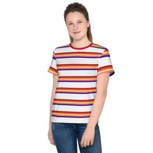 Max Stranger Things T-shirt de fille rayéMad Max Youth Costume Outfit Dress Up Cosplay Eleven