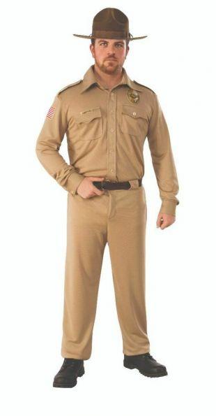 Adulte des choses bizarres Jim Hopper Homme NOUVEAU Costume HALLOWEEN  | eBay