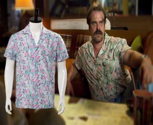 Saison 3 de Stranger Things Jim Hopper  Cosplay Costume Chemise Hawaïenne  Mâle  | eBay
