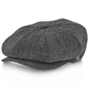 Shelby Walrus Hat Wool Blend 8 Panel Newsboy Cap