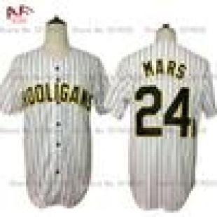 Bruno Mars 24K Hooligans White Pinstriped Baseball Jersey