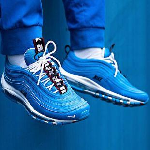 The Pair Of Nike Air Max 97 Premium Blue Hero Worn By Dababy In