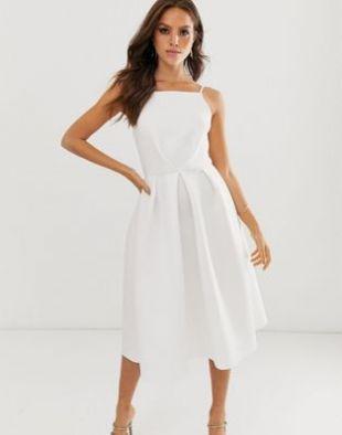 ASOS DESIGN bow back midi prom dress