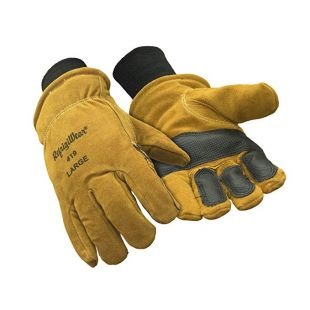 Warm Double Insulated Cowhide Leather Work Gloves with Abrasion Pads