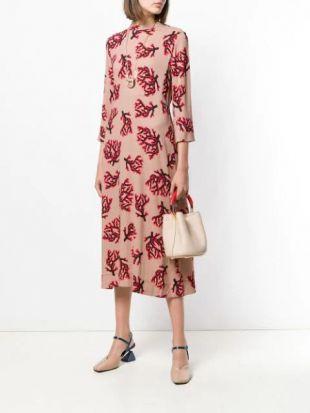 Branch Print Dress