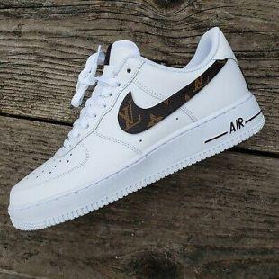 Nike Air Force 1 Custom With Genuine Louis Vuitton Material Worn