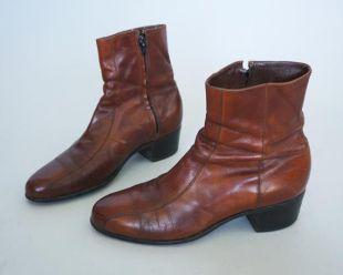 1970s Chestnut Leather Florsheim Beatle Boots