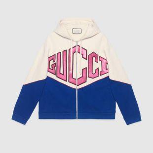 Sweat-shirt à capuche motif Gucci Game