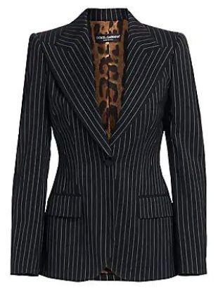 Pinstripe Wool Jacket