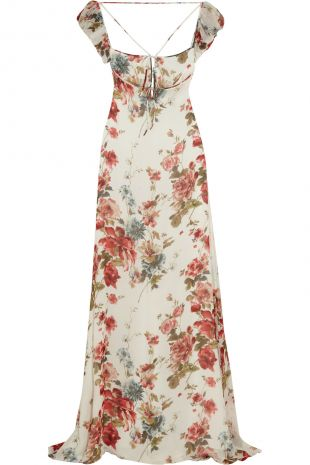 Floral print silk georgette gown | Saint Laurent | UK | THE OUTNET