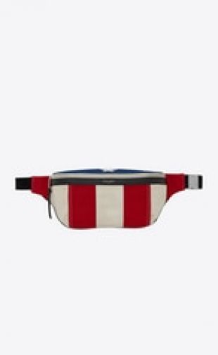 CLASSIC Belt Bag in American Flag Patchwork Canvas