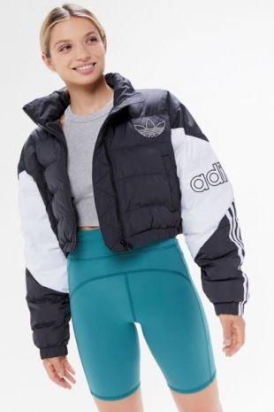 adidas Originals Veste Cropped Puffer BlackWhite