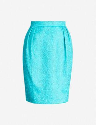 MAX MARA Turchia wool and cotton-blend mini skirt