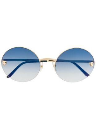 Lunettes De Soleil à Monture Ronde Cartier Eyewear
