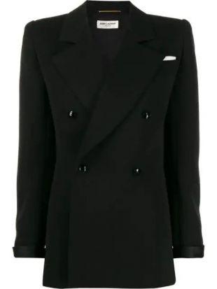 Structured Shoulder Double Breasted Jacket