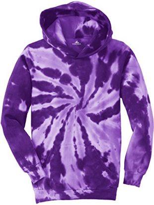 Koloa Youth Colorful Tie-Dye Hoodies - Youth X-Large Purple