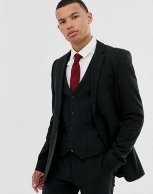 ASOS DESIGN - Veste de costume ultra ajustée - Noir | ASOS