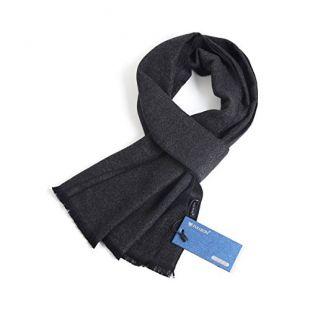 FULLRON Men Winter Cashmere Scarf, Dark Grey Cotton Scarves for Men