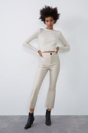 Leather White Pants