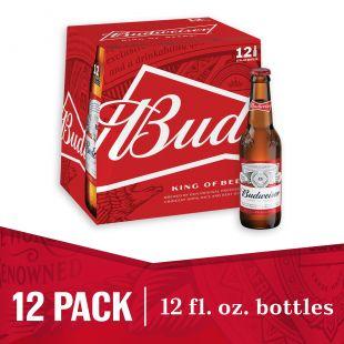 Budweiser® Beer, 12 Pack 12 fl. oz. Bottles - Walmart.com