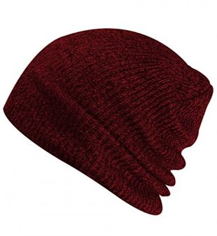 Paladoo Slouchy Winter Hats Knitted Beanie Caps Soft Warm Ski Hat Wine Red