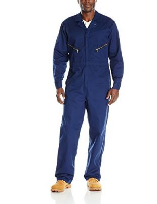 Red Kap Men's Zip-Front Cotton Coverall, Navy, 42