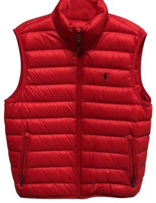 Polo Ralph Lauren Red Mens Down Vest