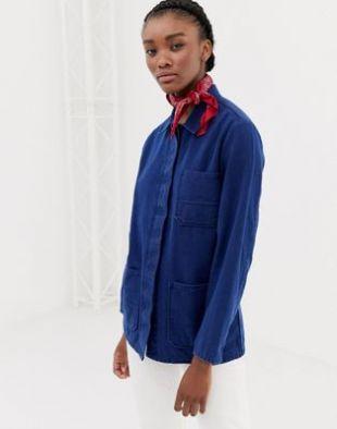 ASOS DESIGN - Veste-chemise en jean - Bleu délavé moyen | ASOS