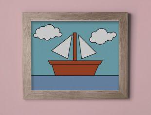 The Simpsons bateau photo murale impression d'Art mural affiche impression Giclée