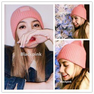 Blackpink Lisa 2019 hiver chaud laine casquettes femmes/hommes unisexe 14 couleurs tricoté chapeaux mode doux chapeau dames cadeaux de noël on AliExpress