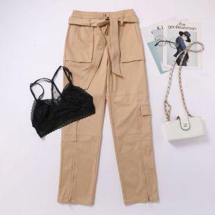 Blackpink LISA le même été dentelle kaki taille haute décontractée salopette pantalon femmes coréen streetwear pantalon femme vêtements-in Pantalons et corsaires from Mode Femme et Accessoires on AliExpress
