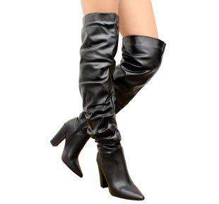 Slough Overknee High Block Heels Bottes cuissardes pointure