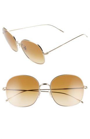 Mehrie 57mm Gradient Round Sunglasses