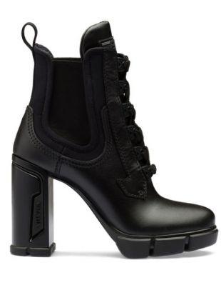 Prada  Chunky Heeled Ankle Boots - Farfetch