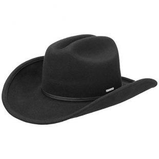 Chapeau Western Fivemile Femme/Homme - en Feutre de Laine avec Ruban Gros Grain Automne-Hiver - M (56-57 cm) Noir