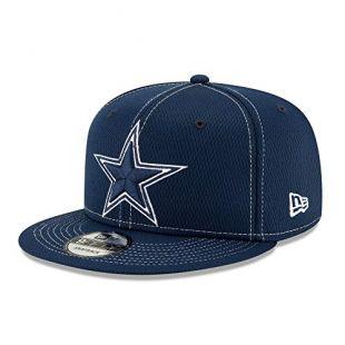 Dallas Cowboys New Era Mens Navy On-Field Sideline Road 9Fifty Cap
