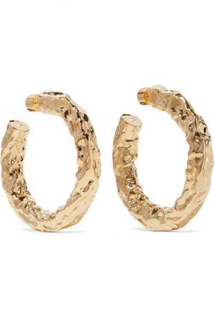 Maeve Gold-plated Hoop Earrings