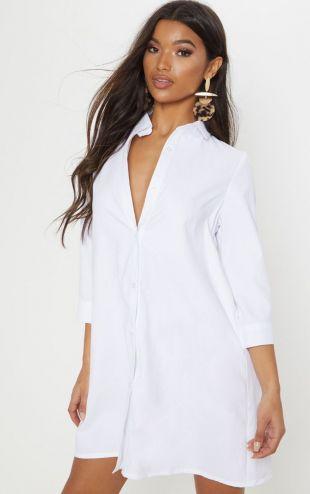 Leni White Shirt Dress