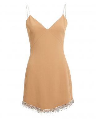 Embellished Crepe Mini Dress